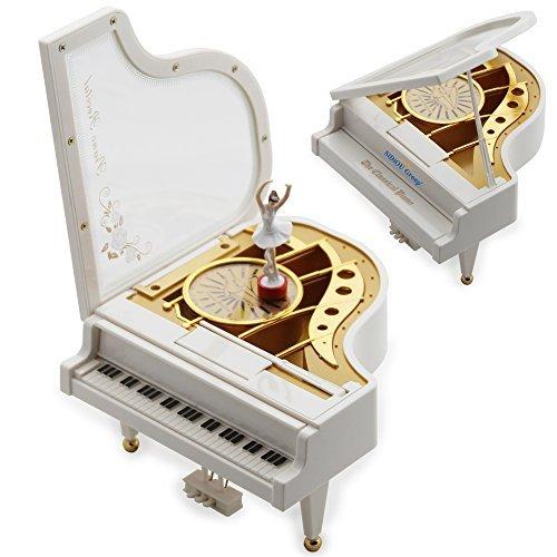 Sidiou Group kreative Valentinstag-Geschenk Laputa Klavier Tänzerinnen Dreh Music Box Vintage mechanische Klassische reizende Ballerina-Mädchen Octave Musical Box