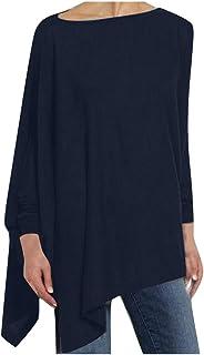 Women Long Sleeve Top, Ladies Solid Irregular Sweatshirt Loose Pullover T-shirt Blouse Tops