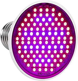 LED Grow Light Bulb, 24W E27 High Power Panel Full Spectrum 200 LED Greenhouse Hydroponic Vegs Potted Flower Plant Grow Li...