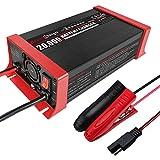 Suading 12V 20A BateríA AutomáTica de Plomo de 7 Segmentos Cargador Inteligente ProteccióN de ConexióN Inversa Enchufe de la UE