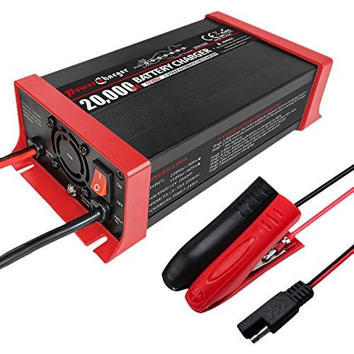 Monland 12V 20A BateríA AutomáTica de Plomo de 7 Segmentos Cargador Inteligente ProteccióN de ConexióN Inversa Enchufe de la UE