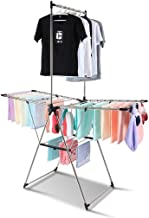 Clothes Rack Floor-mounted Drying Racks, Multifunction Baby Clothes Drying Rack Stainless Steel Multifunction Airfoil Dryi...
