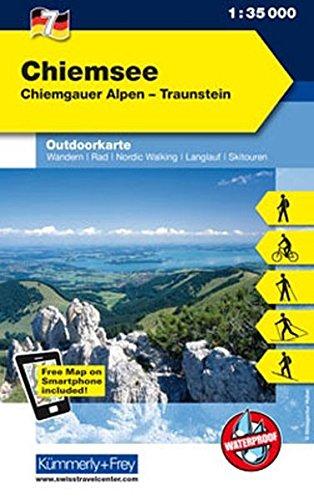 Outdoorkarte 05. Chiemsee 1 : 35.000: Chiemgauer Alpen - Traunstein (Kümmerly+Frey Outdoorkarten Deutschland)