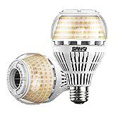 💡 【Super Bright】 Queste lampadine a LED equivalenti da 250w possono produrre fino a 4000 lumen di luminosità, il che significa un incredibile 136 lumen / watt, molto luminoso e risparmio energetico. Con un angolo di fascio più ampio di 270 ° fornisce...