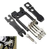 lzndeal Multi-Outils 19 en 1 Kit d'Outils Réparation pour vélo VTT, Cyclisme Vélo Multi Fonction mécanique de réparation
