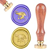CRASPIRE Wax Seal Stamp Pirate Boss Vintage Wax Sealing Stamps Retro 25mm Removable Brass Head Wooden Handle for Envelopes Invitations Wine Packages Greeting Cards Weeding