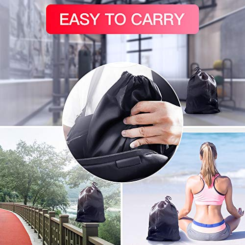 【2020 Newest】 Resistance Bands Set Home Fitness 5 Stackable Exercise Bands Door Anchor 2 Handles 2 Legs Ankle Straps Waterproof Carry Bag for Resistance Training Physi Cal Therapy 4