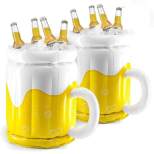 Yajun Cubo de Hielo de Cerveza Inflable Fiesta PVC Piscina Enfriador de Bebidas Flotadores Botella Suministros para Fiestas para Juegos de Agua
