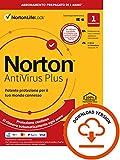 Photo Gallery norton antivirus plus 2021, antivirus per 1 dispositivo, licenza di 1 anno con rinnovo automatico, pc o mac, codice d attivazione via email