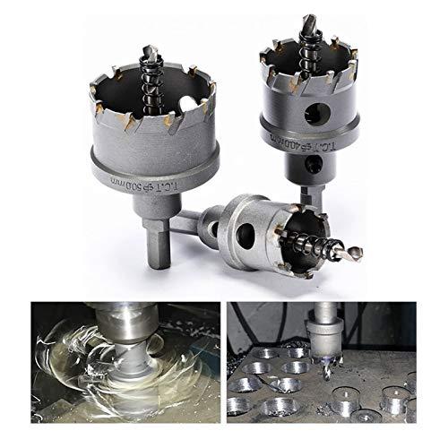 SZHXH 16-100mm K10 Karbid-Lochsäge für Edelstahl-Platten-Eisen-Bohrlegierungs-Metall-Schneidkit (Hole Diameter : 25mm)