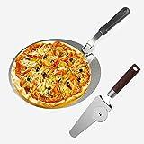 Pizzaschieber Pizza Schaufel, Pizzaschneider und Runder Pizzaheber, Edelstahl-Radschneider, Edelstahl faltbar Pizzaschaufel Pizzaschieber, zum Backen von Pizza und Kuchen im Ofen & Grill