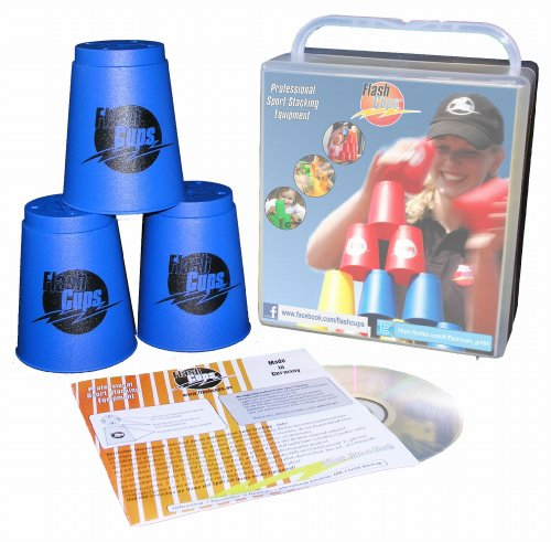 Flash Cups 1001 - Original FlashCups, 12 Stück, inkl. Anleitungs- DVD, blau