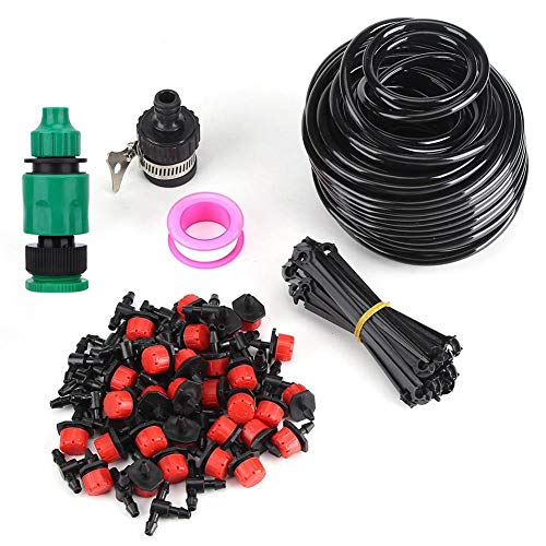 25m Plant Self Irrigation Tuinslang Kits, Kraan Connector DIY Slangen Micro Verstelbare Druppelirrigatie Kit voor Patio Tuin Bloemen Planten