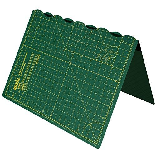 ANSIO Tappetino da Taglio autorigenerante Pieghevole A3. Ideale per Artigianato, Trapuntatura, Cucito, Scrapbooking, Tessuto e Papercraft - Imperiale - 17 Pollici x 11 Pollici - Verde