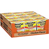 Maruchan Instant Lunch Less Sodium Chicken, 2.15 Oz, Pack of 12