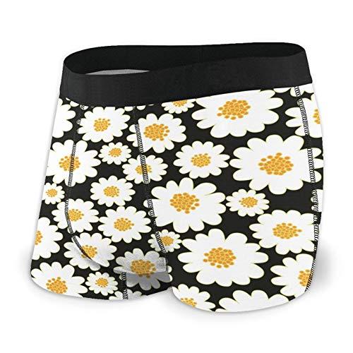 Daisy Field - Calzoncillos tipo bóxer para hombre, suave, a la moda, cintura cubierta, pierna corta, transpirable