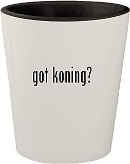 got koning? - White Outer & Black Inner Ceramic 1.5oz Shot Glass