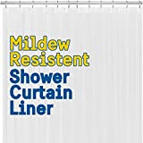BigFoot Shower Curtain Liner – 72 x 72 Heavy Duty PEVA Shower Liner with Rustproof Metal Grommet and 3 Magnetic Weights – Non-Toxic, Odor Free and Compatible with Standard Showers, White