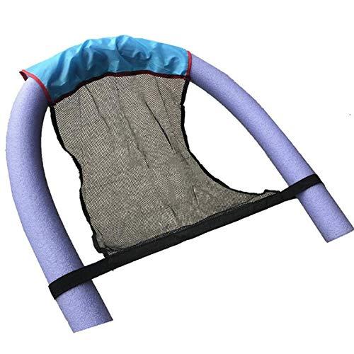 (2 piezas) piscina de fideos Silla Flotante - piscina flotadores for niños y for adultos, piscina flotante de fideos cabestrillo de malla Juego de sillas, incluye piscina de fideos flotador y asiento