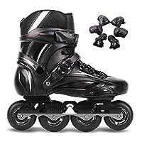 インラインスケート 職業ローラースケート耐摩耗性、通気性、快適なローラーシューズのフルセット 大人向け初心者向け (Color : B, Size : 35 EU/4 US/3 UK/22.5cm JP) [並行輸入品]