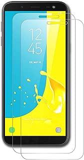 AICEK [2-Pack Protector de Pantalla Samsung Galaxy J6 2018, Cristal Templado para Samsung J6 2018 Vidrio Templado Galaxy J6 2018 Cristal Screen Protector