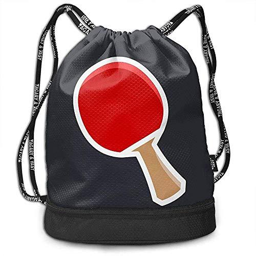 Bernie Dodd Mochila con Cordón Mochila con Cordón Sport Gym Sackpack Mochila con Cordón Mochila Sport Gym Sackpack Ping Pong Paddle Gym Bag