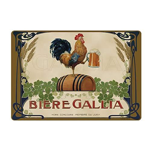 Cartexpo - Set di 4 tovagliette con birra Gallia, 42 x 29 cm
