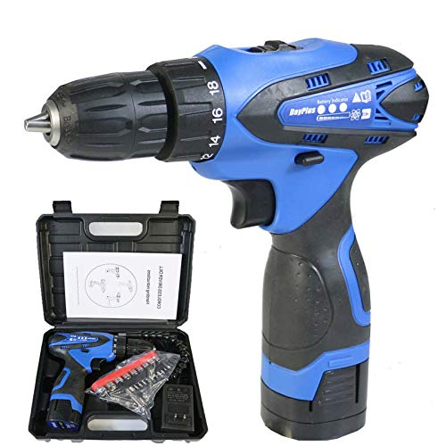 Cordless Drill Kit, 16.8V Electric Drill Cordless with one Cordless Drill Battery, Best Cordless Drill with Two Speed Settings & 35Nm Max Torque, LED Light,Value Package