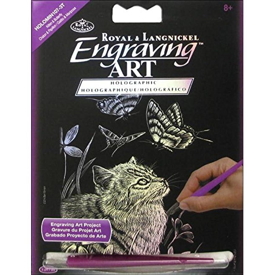 ROYAL BRUSH HOLOMIN-107 Holographic Foil Engraving Kitten & Butterfly Art Mini Kit, 5