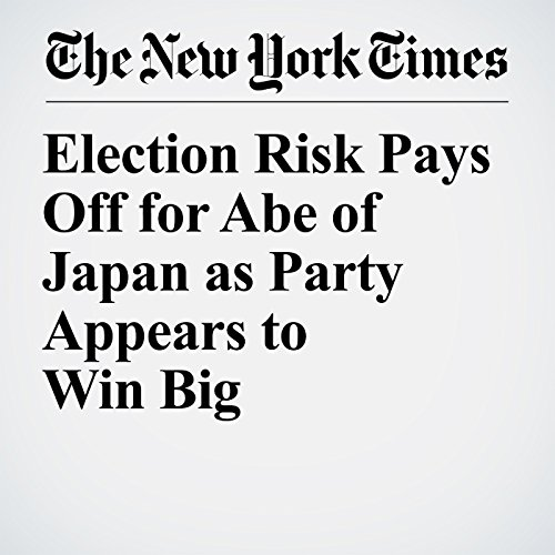 Election Risk Pays Off for Abe of Japan as Party Appears to Win Big copertina