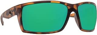 Costa Del Mar Reefton Sunglass Matte Retro Tortoise/Green Mirror 580Plastic