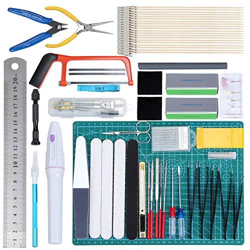 WiMas 64PCS Gundam Modeler Builder's Tools, Gundam Herramientas de Modelismo, Hobby Building Craft Set para Reparación de Modelos Básicos
