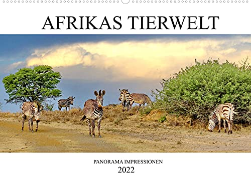 Africa Tierwelt Panorama Impressions Wall Calendar 2022 DIN A2 Landscape
