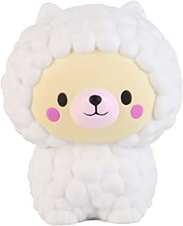 Anboor 5.1 Inches Squishies Sheep Bear Jumbo Kawaii Soft Slow Rising Scented Animal Squishies Stress Relief Kid Toys Gift
