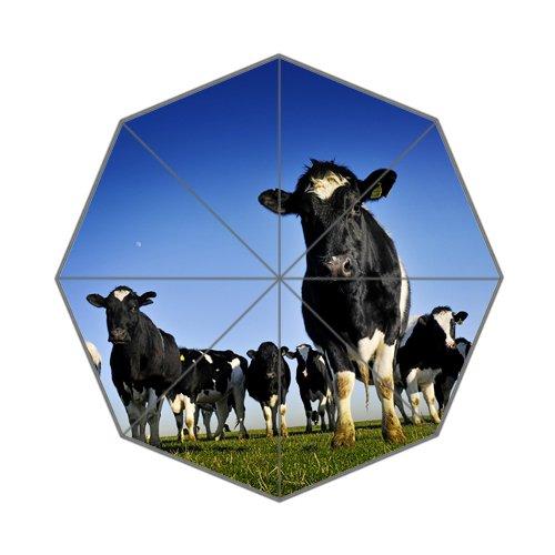 Flipped zomer Y koeien aangepaste kunst prints paraplu