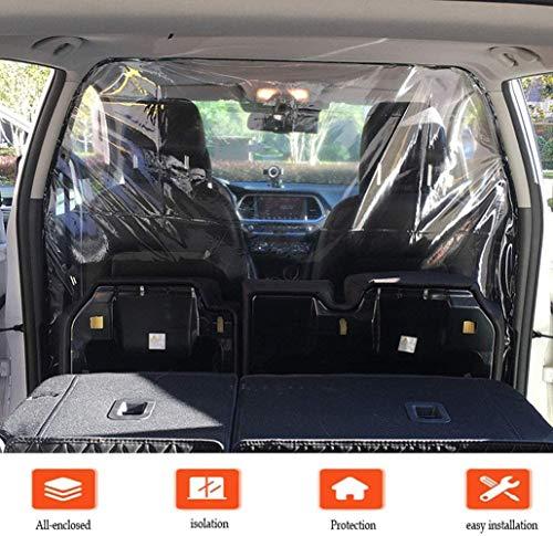 01 Schutzfolie, Autoschutzfolie, Taxi transparente Isolierfolie, selbstklebend, Trennvorhang mit Klettverschluss, verhindert Keime, Rauch, Speichel, für Auto, Uber, Taxi