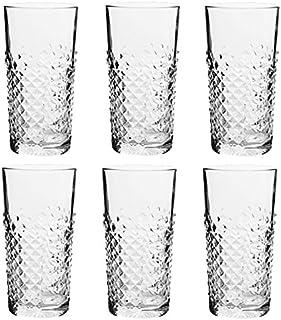 Libbey - Carats - Longdrinkglas, Cocktailglas, Cooler - 420 ml - 6er Set - Spülmaschinenfest