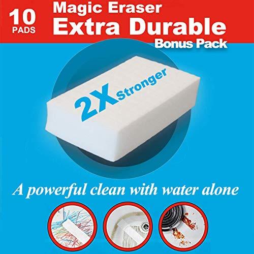 Schmutzradierer wand magic eraser schmutzradierer schwamm,starke reinigung einfach mit wasser,2X extra konzentrierte Reinigungskraft,Textur für schwierige Aufgaben entfernt angesammelten Schmutz