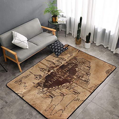 Large Area Rug Dining Room Living Room Bedroom Carpet Non-Skid Soft Floor Carpet Machine Washable Rug 5' x 3' (Marauders Map (1))