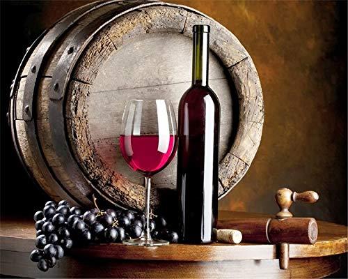 Cwanmh Weinplakat Leinwand Malerei Küche Bar Restaurant Esszimmer dekorative Wandkunst drucken Moderne Zuhause dekorative Kunst Bild 50x40cm
