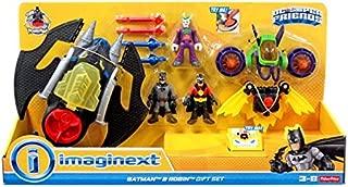 Imaginext Batman & Robin Exclusive Gift Set Featuring Batman, Batwing, Red Robin, Robin Wings, Joker & Jet Pack