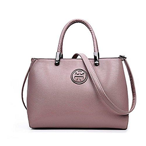DFUCF Signore PU pelle Moda Casual Occupazione Borsa A Tracolla Borsa Messaggero Borsa Robusto Festa Matrimonio,Blushing Pink-OneSize