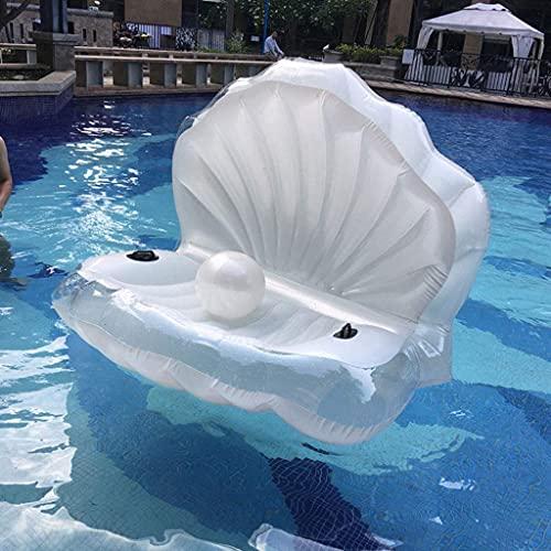 Schwimmreifen Riesige Perlenmuscheln Aufblasbare Pool Float Schwimmring Muschellieger mit Griff Perle Ball Wasser Sofa Party Spielzeug