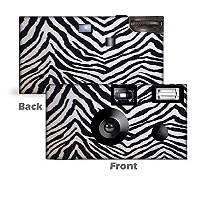 5 Zebra Custom Disposable Cameras, Can be Personalized, Single use, Party from CustomCameraCollection