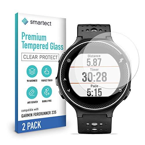 smartect Schutzglas kompatibel mit Garmin Forerunner 235 [2 Stück] - Tempered Glass mit 9H Härte - Blasenfreie Schutzfolie - Anti-Kratzer Displayschutzfolie