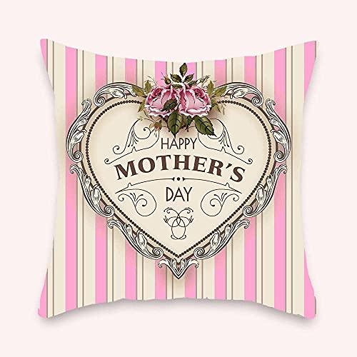 N  A Almohada de patrón del día de la madre, almohada creativa de impresión 3D, decoración del hogar, sala de estar, jardín, sofá, incluye núcleo de almohada