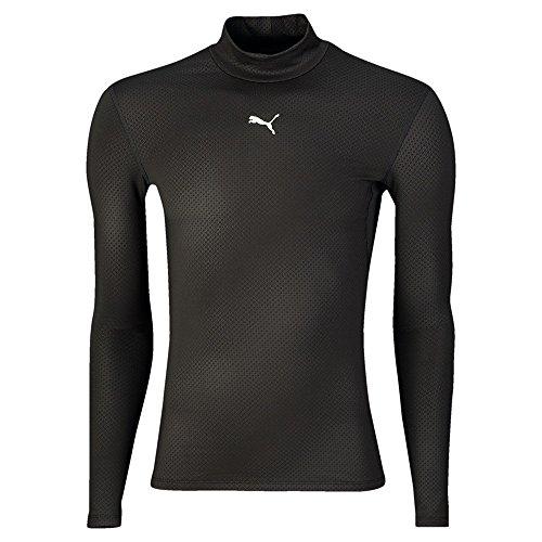 PUMA Herren T-Shirt PB Core Long Sleeve MN Warm Kompressionsshirt, Black, M