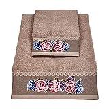 Vingi ALAMBRA Store Set di Asciugamani in Spugna di Cotone 1 Viso 1 Ospiti (1)