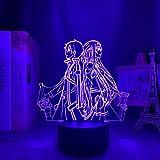 Sword Art Online 3D ilusión lámpara japonesa anime luz 16 colores con remoto lámpara de escritorio para regalo de Navidad