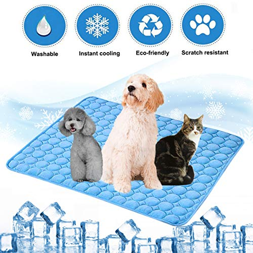 aingycy Dog Cooling Mat Pet Cooling Pads Dogs & Cats Pet Cooling Blanket for Outdoor Car Seats Beds (22IN28IN)